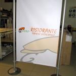 Porta Banner in allumunio